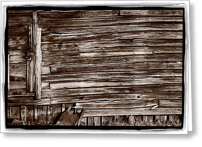 California State Parks Greeting Cards - Weathered Wall In Bodie Ghost Town Greeting Card by Steve Gadomski