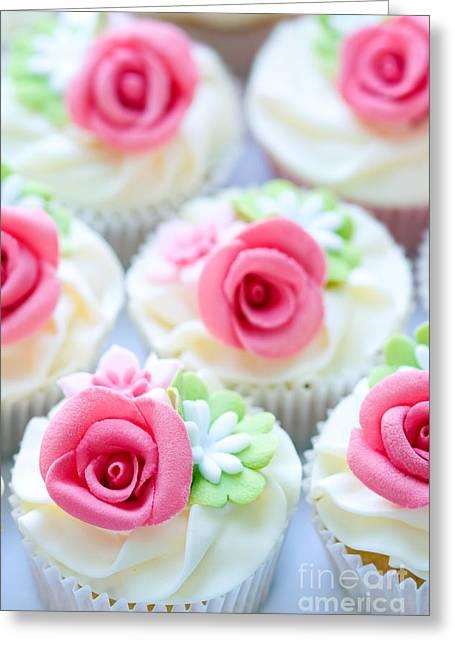 Fondant Greeting Cards - Wedding cupcakes Greeting Card by Ruth Black