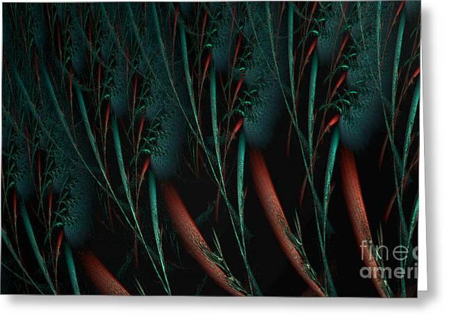 Phantasy Greeting Cards - Weird plants Greeting Card by Jan Willem Van Swigchem