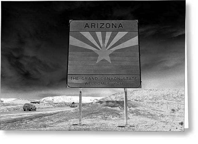 Welcome Sign Greeting Card by David Lee Thompson