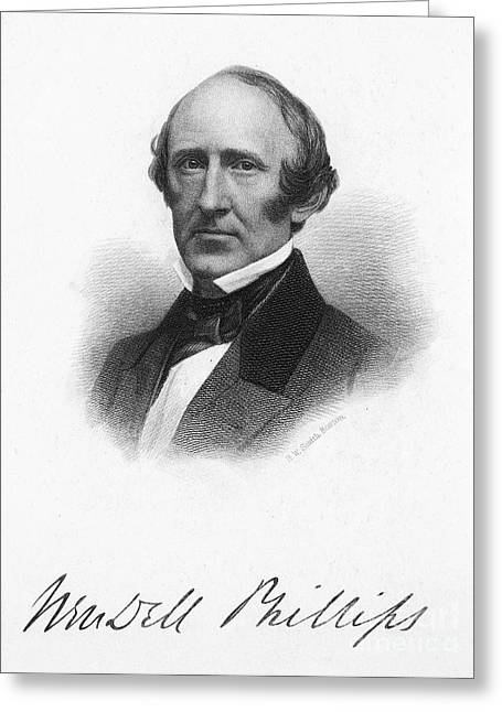 Abolition Greeting Cards - Wendell Phillips (1811-1884) Greeting Card by Granger