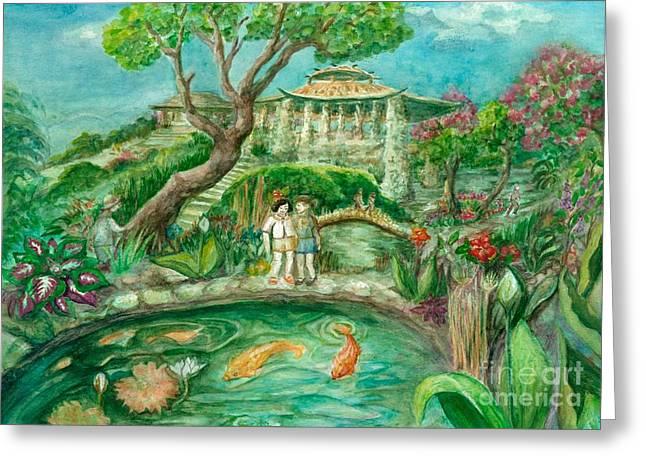 We're In Wonderland Greeting Card by Lynn Maverick Denzer