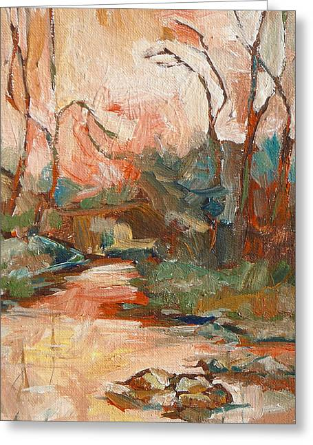West Fork Paintings Greeting Cards - West Fork 2 Greeting Card by Sandy Tracey