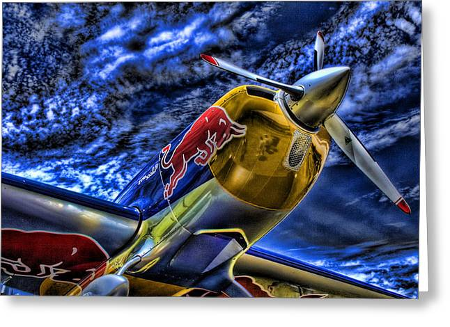 Propeller Greeting Cards - When Bulls Fly Greeting Card by Joetta West