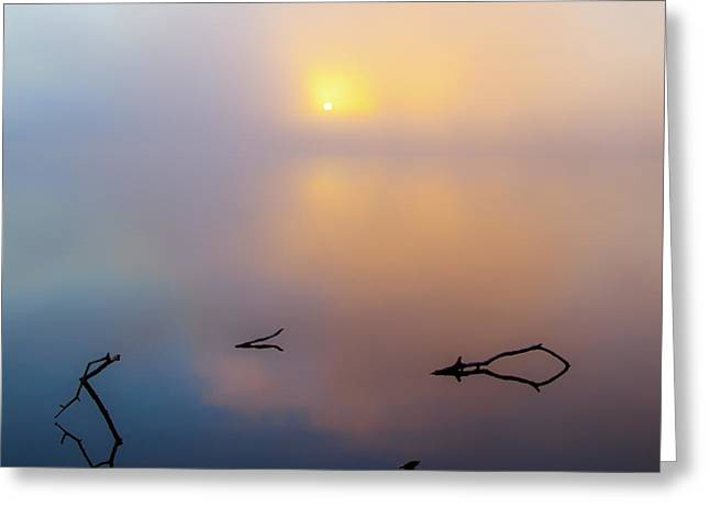 Ron Mcginnis Greeting Cards - Where The Earth Meets The Sky Greeting Card by Ron  McGinnis
