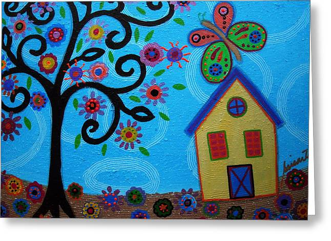 Carter House Greeting Cards - Whimsyland Greeting Card by Pristine Cartera Turkus