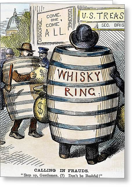 Nast Greeting Cards - Whisky Ring Cartoon, 1875 Greeting Card by Granger