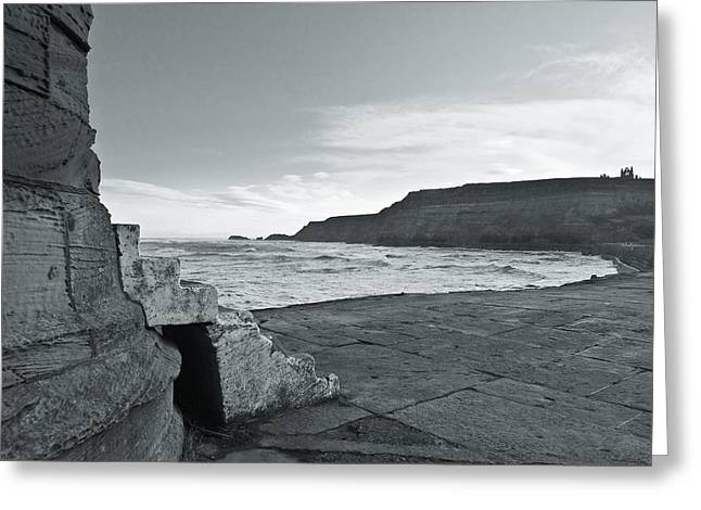 Abbey Giclee Print Greeting Cards - Whitby abbey Greeting Card by Gary Finnigan