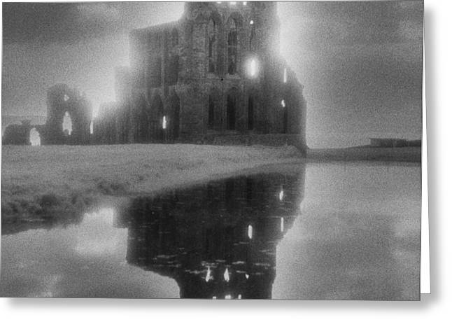 Whitby Greeting Cards - Whitby Abbey Greeting Card by Simon Marsden