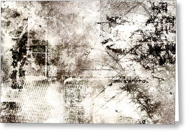 Grunge Greeting Cards - Whiteout Greeting Card by Christopher Gaston