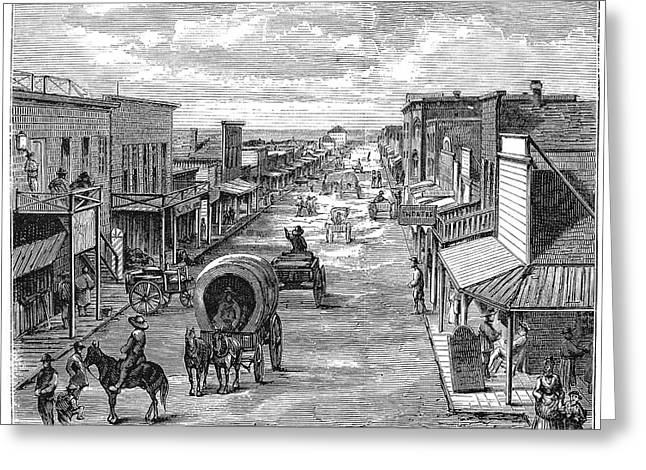 1874 Greeting Cards - Wichita, Kansas, 1874 Greeting Card by Granger