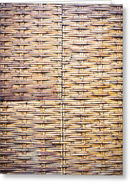 Wicker Furniture Greeting Cards - Wicker background Greeting Card by Tom Gowanlock