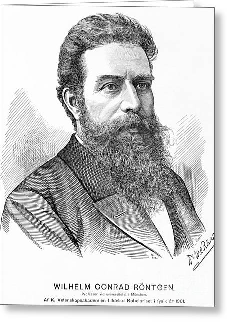 Nobel Prize Winner Greeting Cards - Wilhelm Roentgen, German Physicist Greeting Card by Science Source