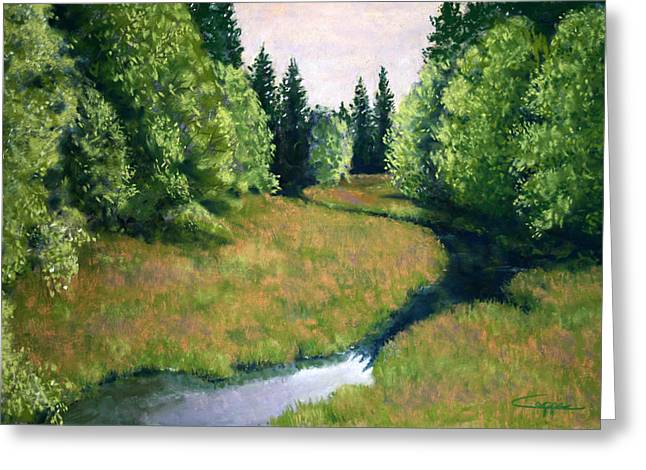 Oregon Pastels Greeting Cards - Willamette Valley Summer Greeting Card by Carl Capps