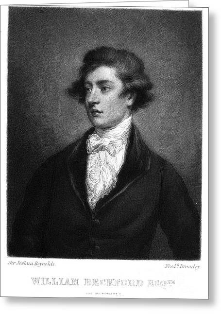 Mezzotint Greeting Cards - William Beckford (1760-1844) Greeting Card by Granger