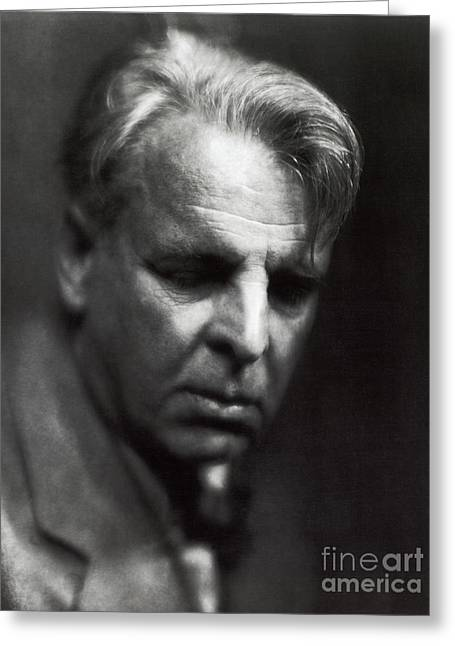 Important Greeting Cards - William Butler Yeats Greeting Card by Photo Researchers