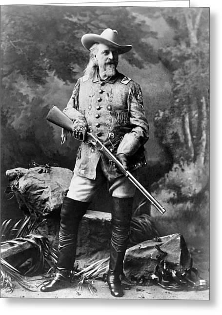 Buffalo Bill Cody Greeting Cards - William F. Cody (1846-1917) Greeting Card by Granger