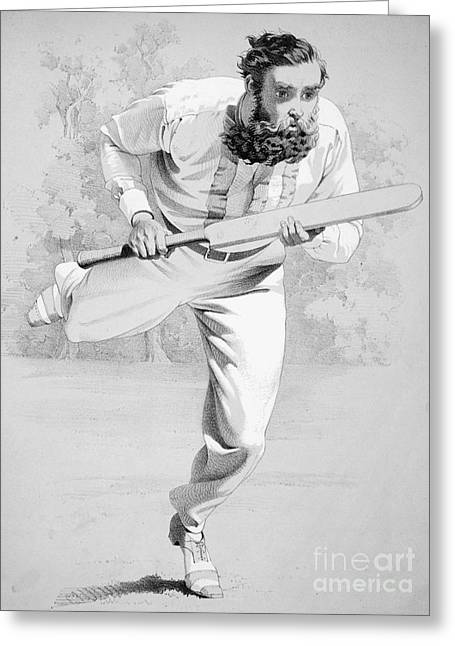 Cricketers Greeting Cards - William Gilbert Grace Greeting Card by Granger