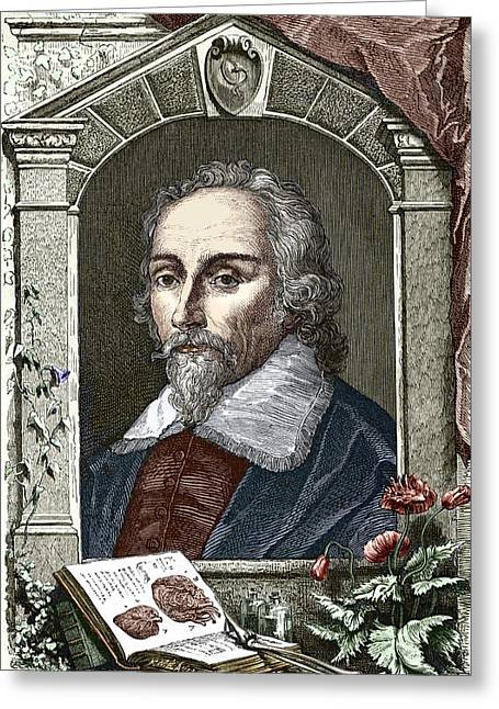 Savant Photographs Greeting Cards - William Harvey, English Physician Greeting Card by Sheila Terry