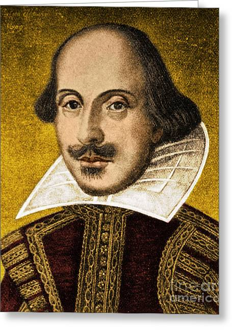 Romance Renaissance Greeting Cards - William Shakespeare Greeting Card by Science Source