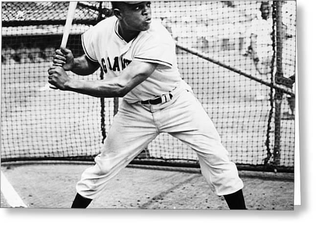 WILLIE MAYS (1931- ) Greeting Card by Granger
