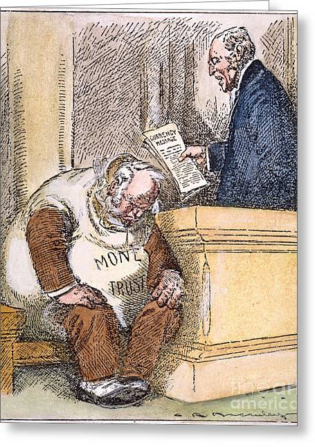 Reform Greeting Cards - Wilson Cartoon, 1913 Greeting Card by Granger