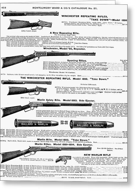 Catalog Greeting Cards - Winchester Rifles Greeting Card by Granger