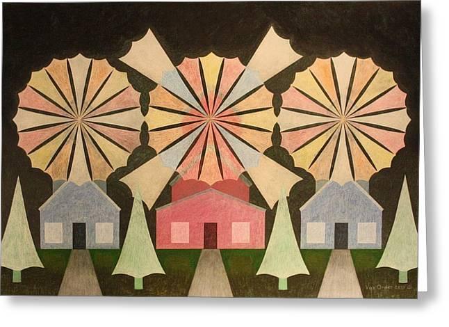 Mills Pastels Greeting Cards - Wind Sails of Dreams Greeting Card by Richard Van Order