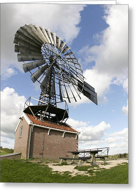 Zaanse Schans Greeting Cards - Windmill Greeting Card by Chris Martin-bahr
