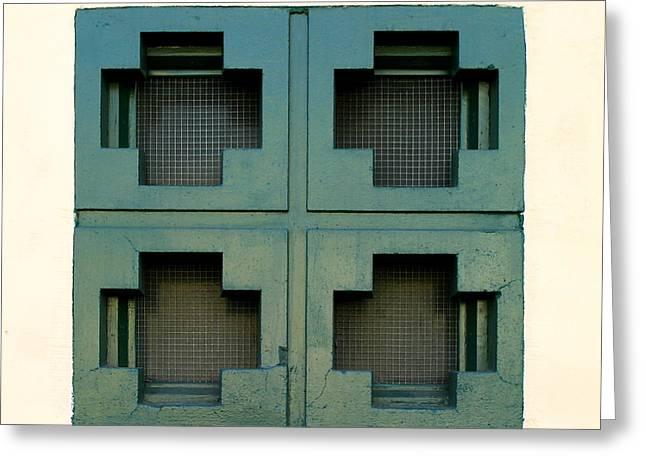 Windows Greeting Card by Henrik Lehnerer