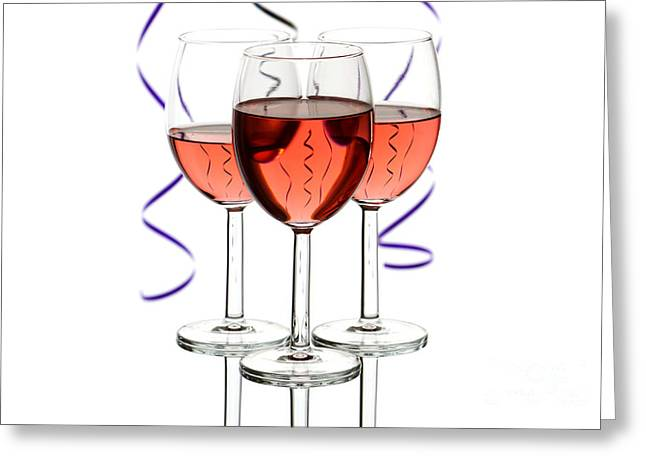 Streamer Greeting Cards - Wine Greeting Card by Blink Images