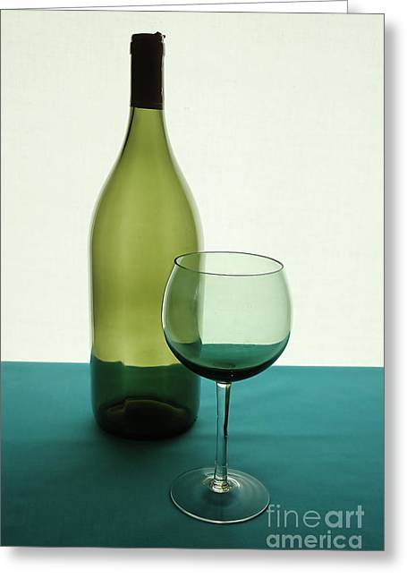 Party Food Greeting Cards - Wine Greeting Card by HD Connelly