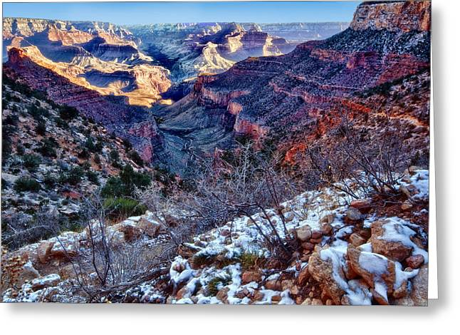 Winter Park Greeting Cards - Winter at Grand Canyon Greeting Card by Jacek Joniec
