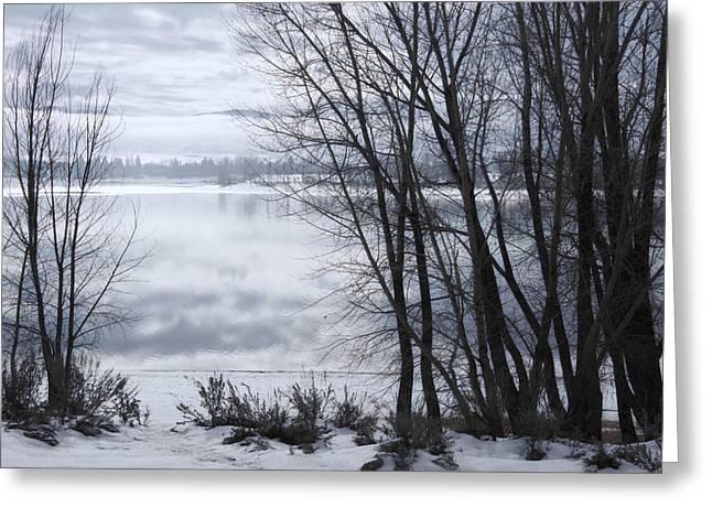 Huntsville Greeting Cards - Winter at the Lake Greeting Card by Utah Images