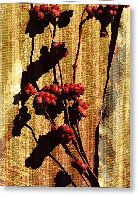 Black Berries Greeting Cards - Winter Berries  Greeting Card by Chris Berry