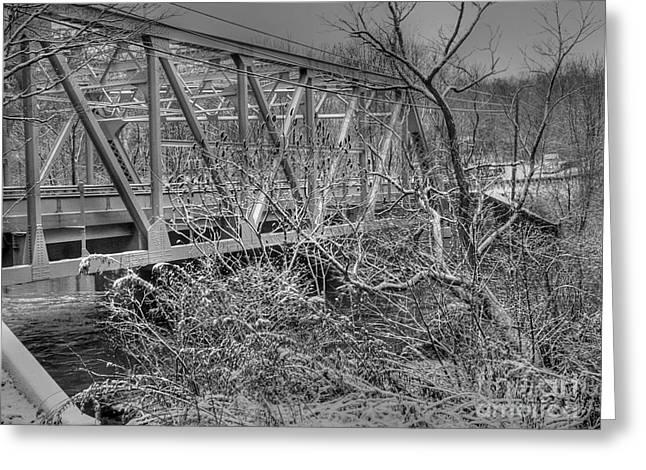 Winter Bridge Greeting Card by David Bearden