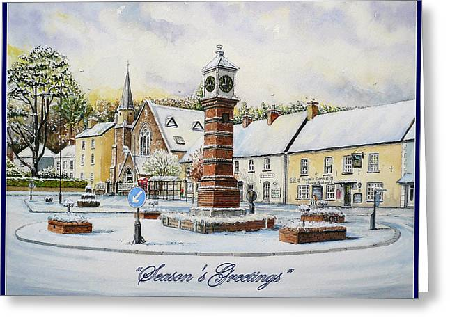 Rural Snow Scenes Greeting Cards - Winter In Twyn Square Greeting Card by Andrew Read