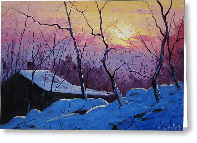 Winter Greeting Cards - Winter Sunrise Greeting Card by Graham Gercken