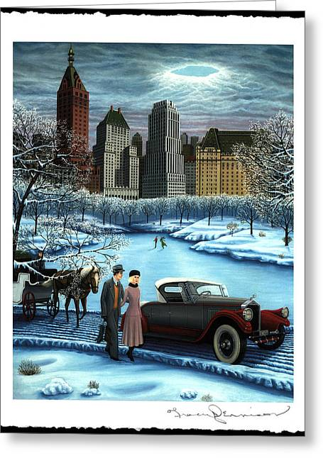 Toy Store Paintings Greeting Cards - Winter Wonderland Greeting Card by Tracy Dennison