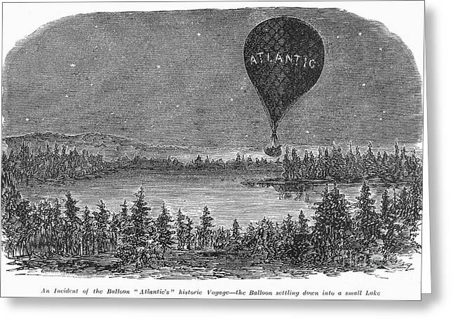 Mishap Greeting Cards - Wises Atlantic Balloon Greeting Card by Granger