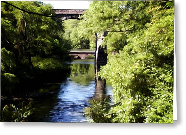 Wissahickon Greeting Cards - Wissahickon Creek  Greeting Card by Bill Cannon