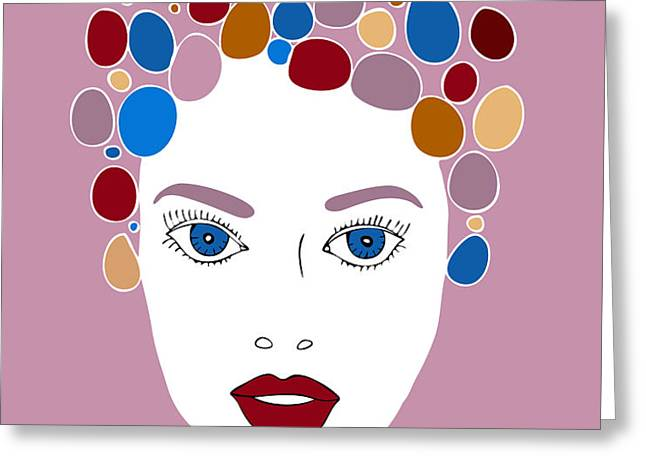 Woman in Fashion Greeting Card by Frank Tschakert