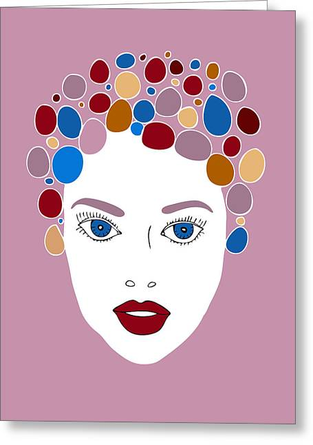 Hair Styles Greeting Cards - Woman in Fashion Greeting Card by Frank Tschakert