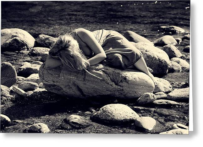woman in river Greeting Card by Joana Kruse