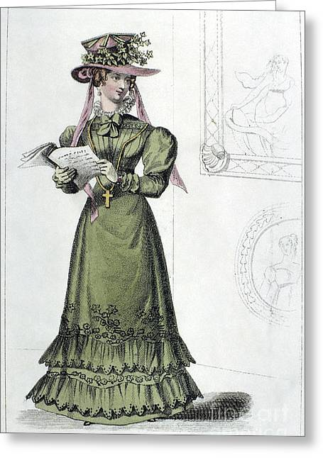 Interior Morning Greeting Cards - Womens Fashion, 1826 Greeting Card by Granger
