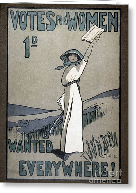 Women Suffrage Greeting Cards - Womens Rights Greeting Card by Granger
