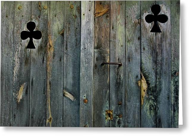Entrance Door Greeting Cards - Wooden door Greeting Card by Bernard Jaubert