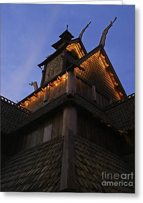 World Showcase Greeting Cards - World Showcase - Norway Pavillion Greeting Card by AK Photography