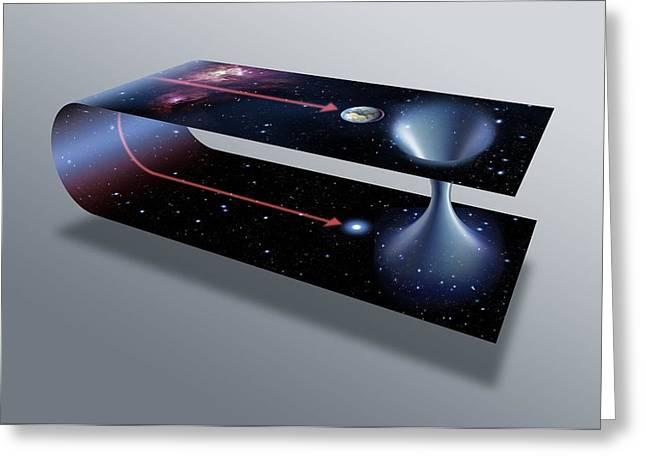 Warp Greeting Cards - Wormhole, Conceptual Artwork Greeting Card by Detlev Van Ravenswaay