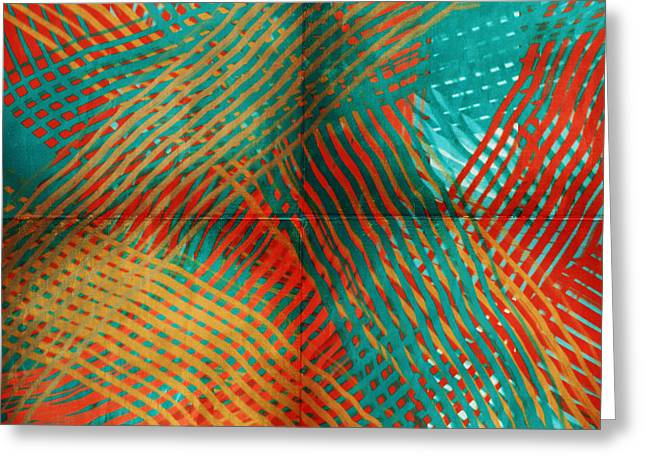 Tangerines Digital Greeting Cards - Woven Greeting Card by Bonnie Bruno